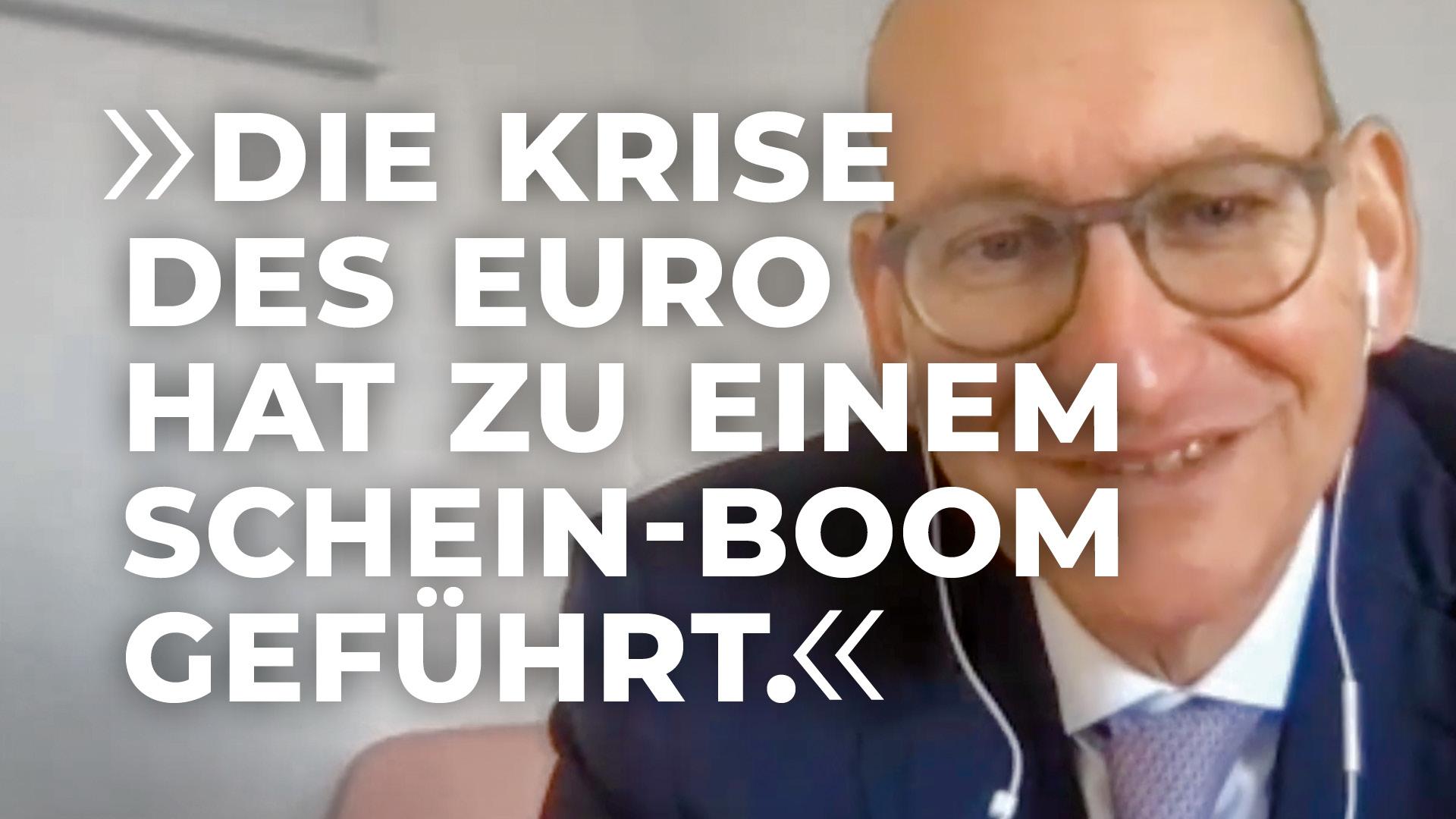 Die Krise des Euro hat zu einem Schein-Boom geführt